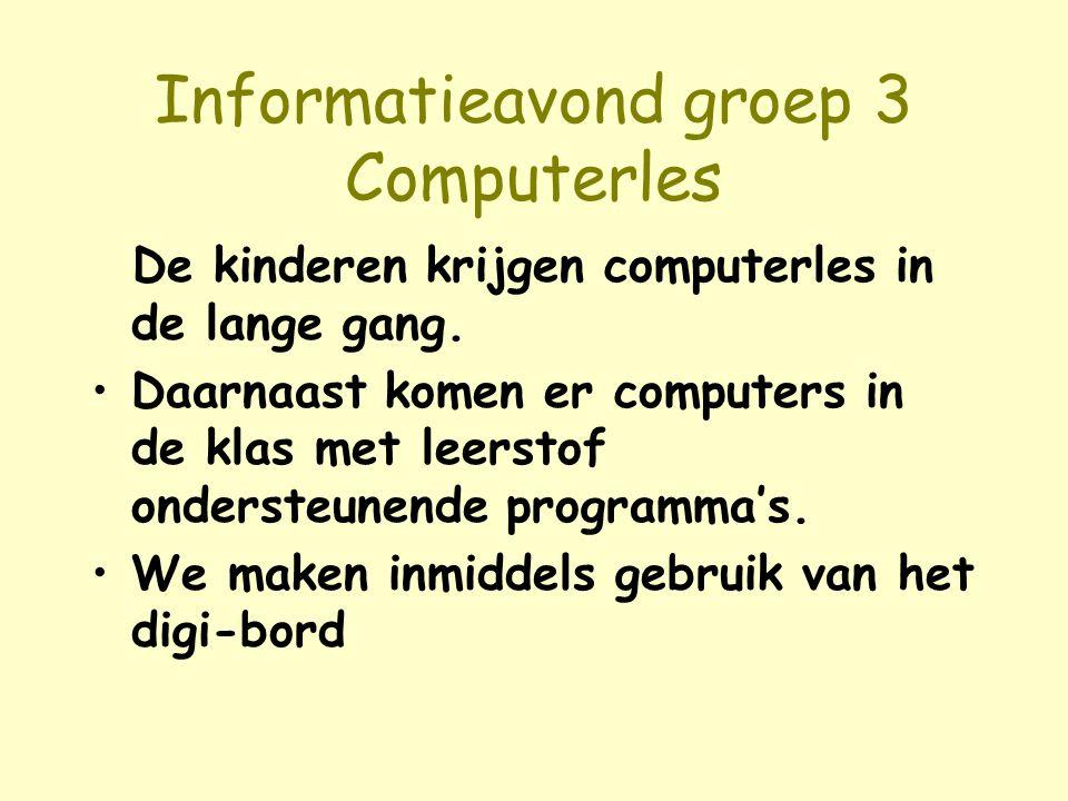 Informatieavond groep 3 Computerles
