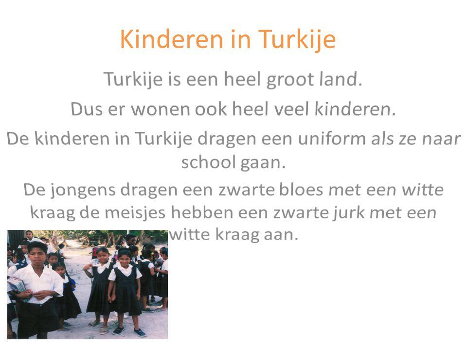Kinderen in Turkije Turkije is een heel groot land.