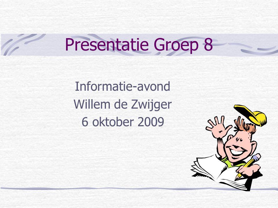 Informatie-avond Willem de Zwijger 6 oktober 2009
