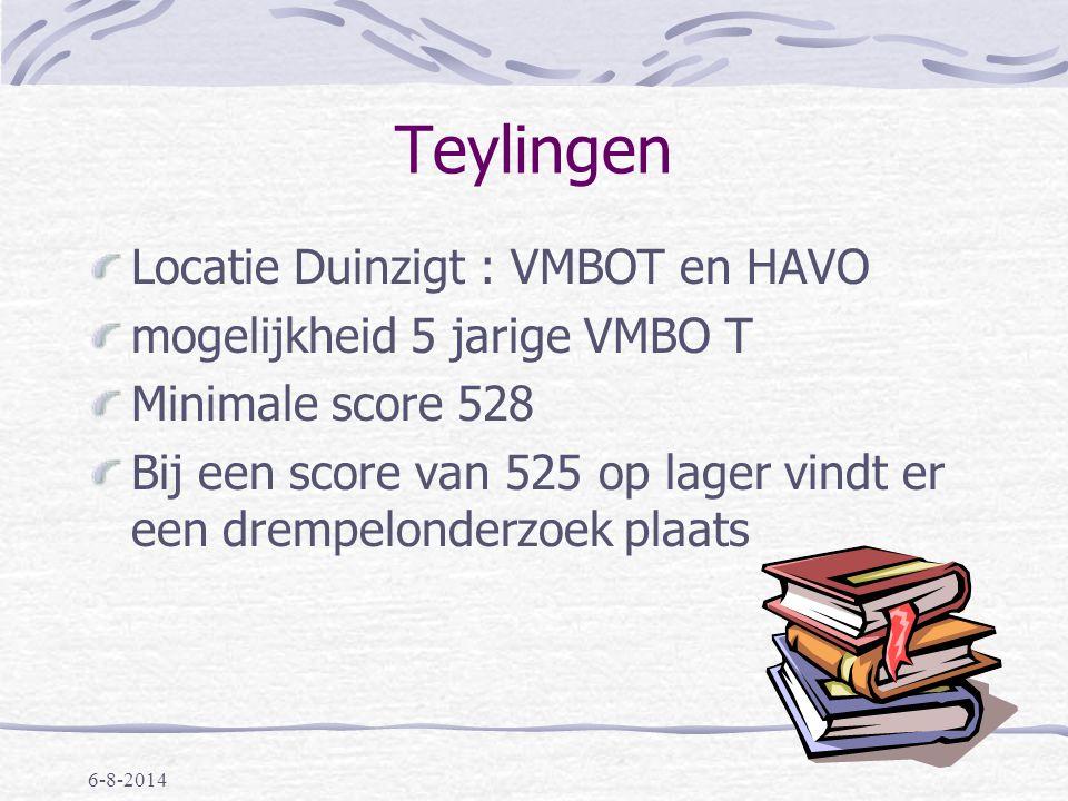 Teylingen Locatie Duinzigt : VMBOT en HAVO