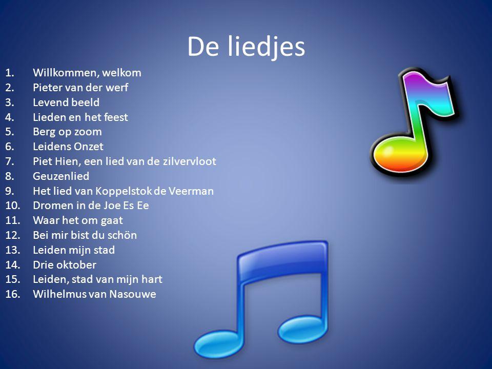 De liedjes Willkommen, welkom Pieter van der werf Levend beeld