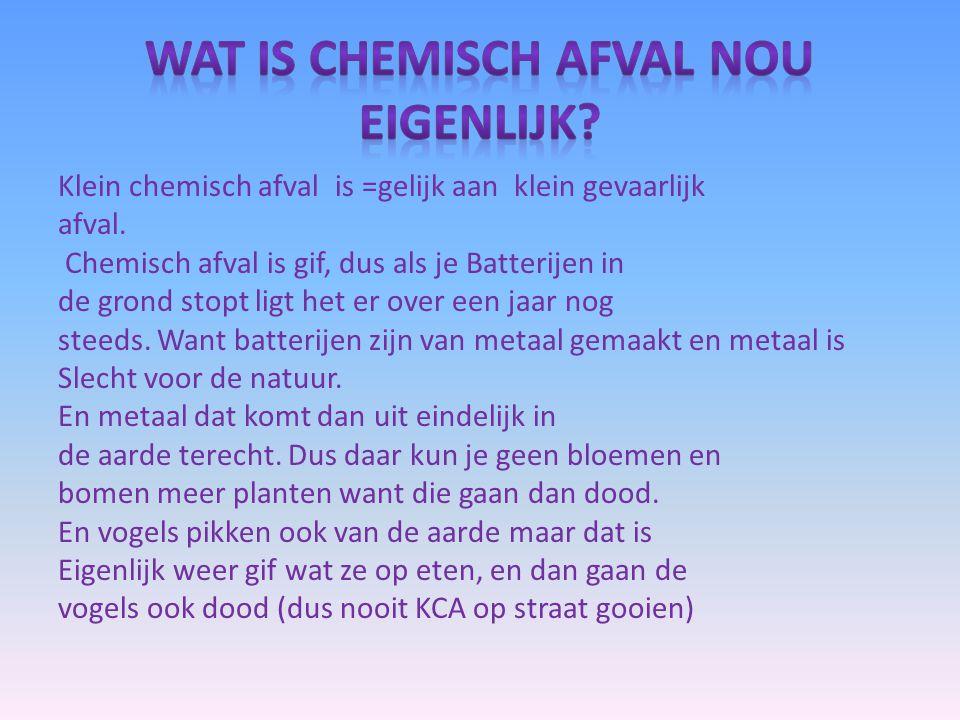 wat is chemisch afval nou eigenlijk