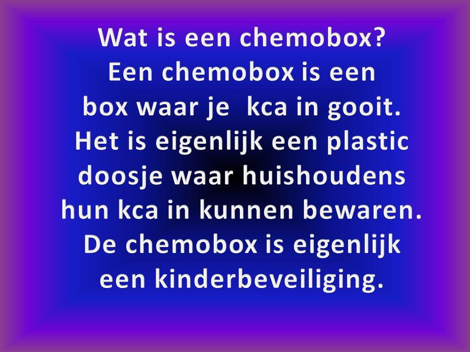 Wat is een chemobox Een chemobox is een. box waar je kca in gooit.