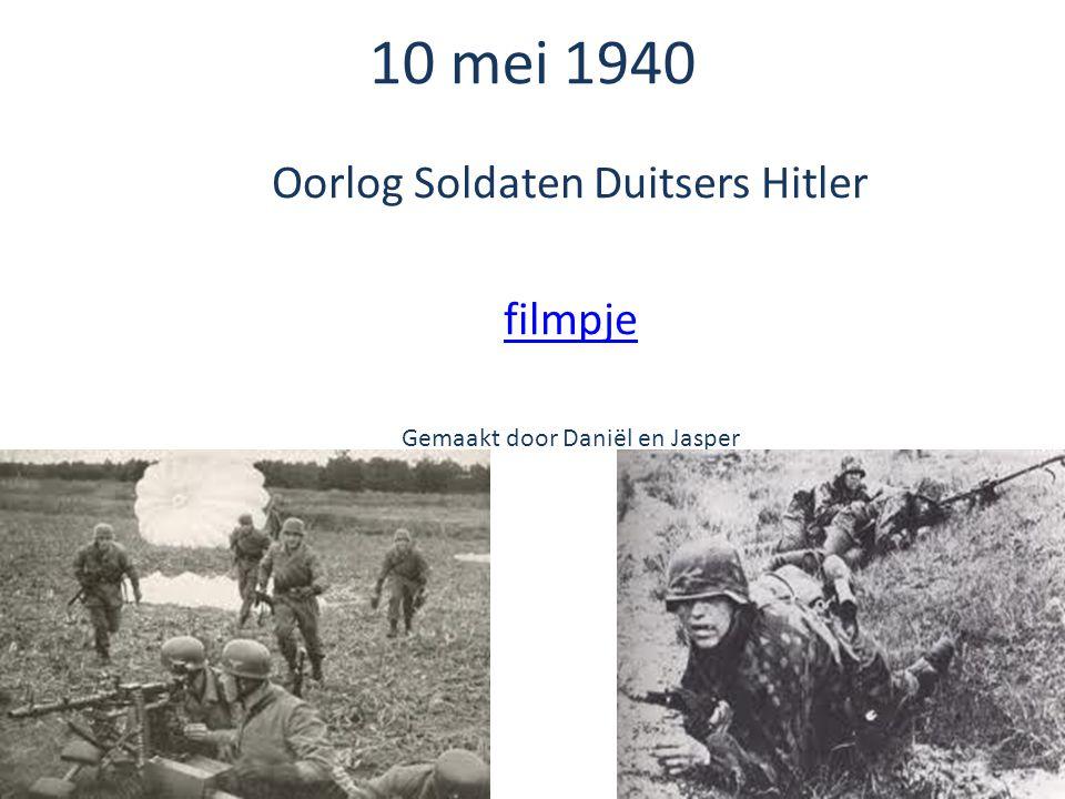 Oorlog Soldaten Duitsers Hitler filmpje Gemaakt door Daniël en Jasper