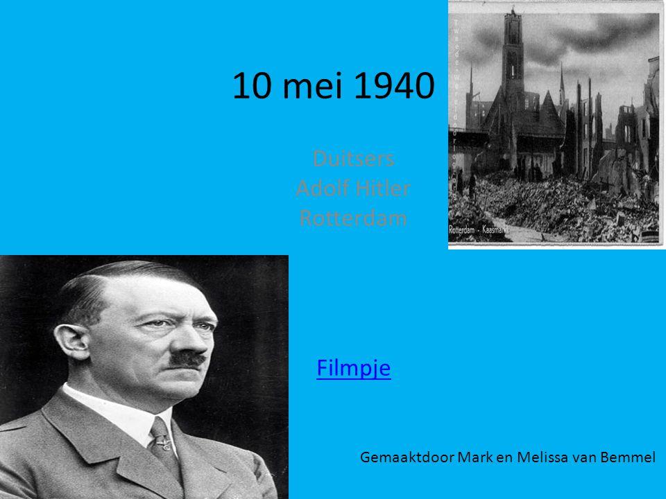 Duitsers Adolf Hitler Rotterdam Filmpje