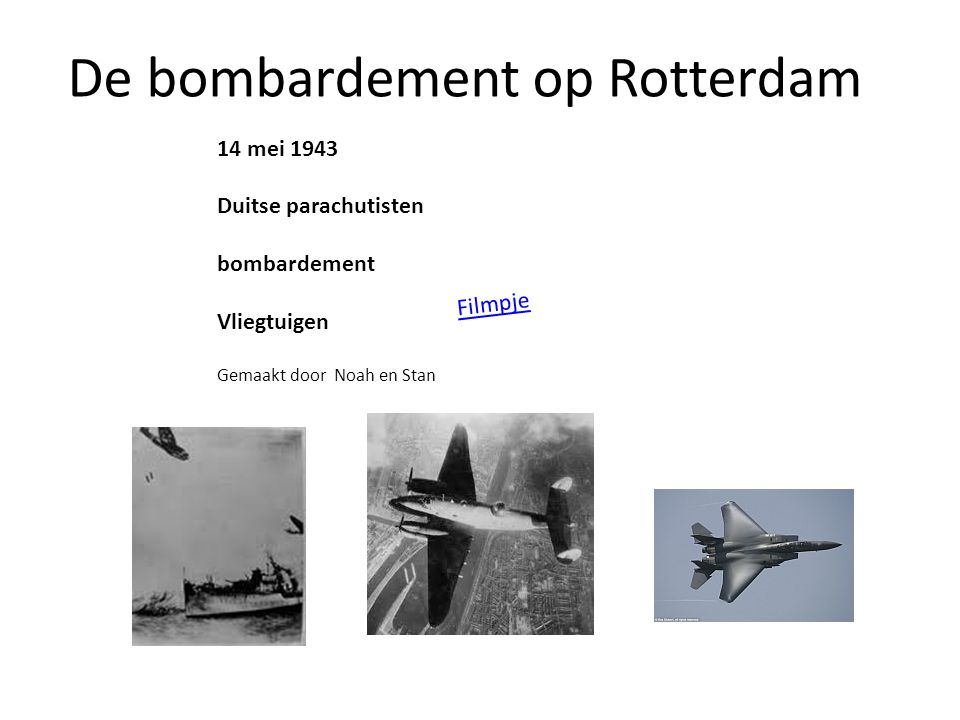 De bombardement op Rotterdam