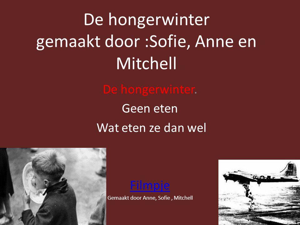 De hongerwinter gemaakt door :Sofie, Anne en Mitchell