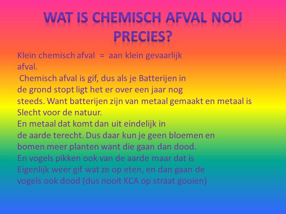 wat is chemisch afval nou precies