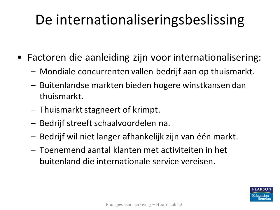 De internationaliseringsbeslissing