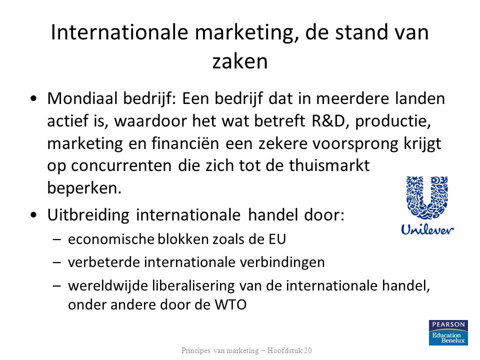 Internationale marketing, de stand van zaken