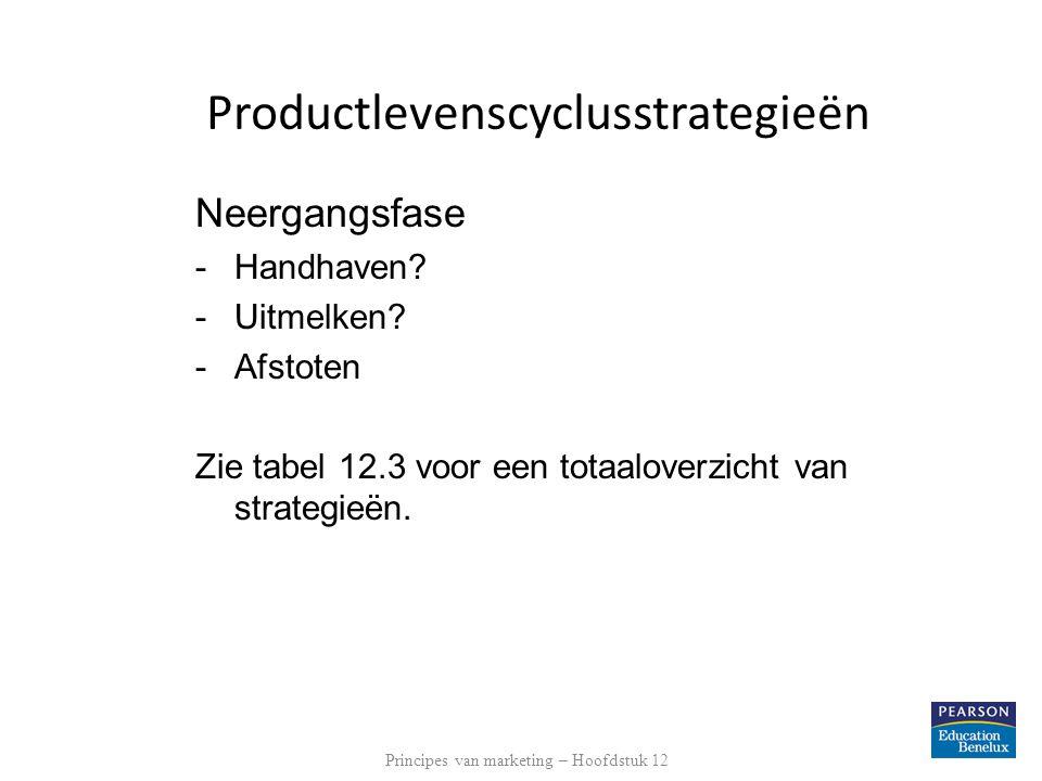 Productlevenscyclusstrategieën