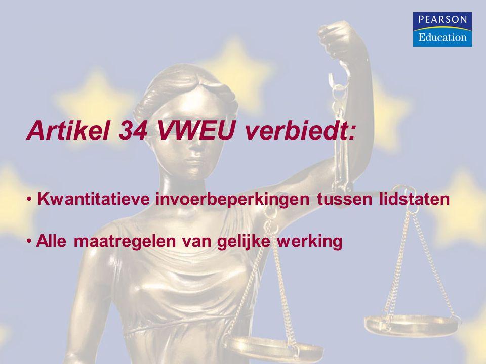 Artikel 34 VWEU verbiedt:
