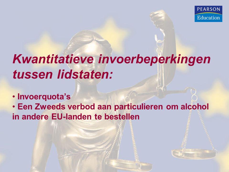 Kwantitatieve invoerbeperkingen tussen lidstaten: