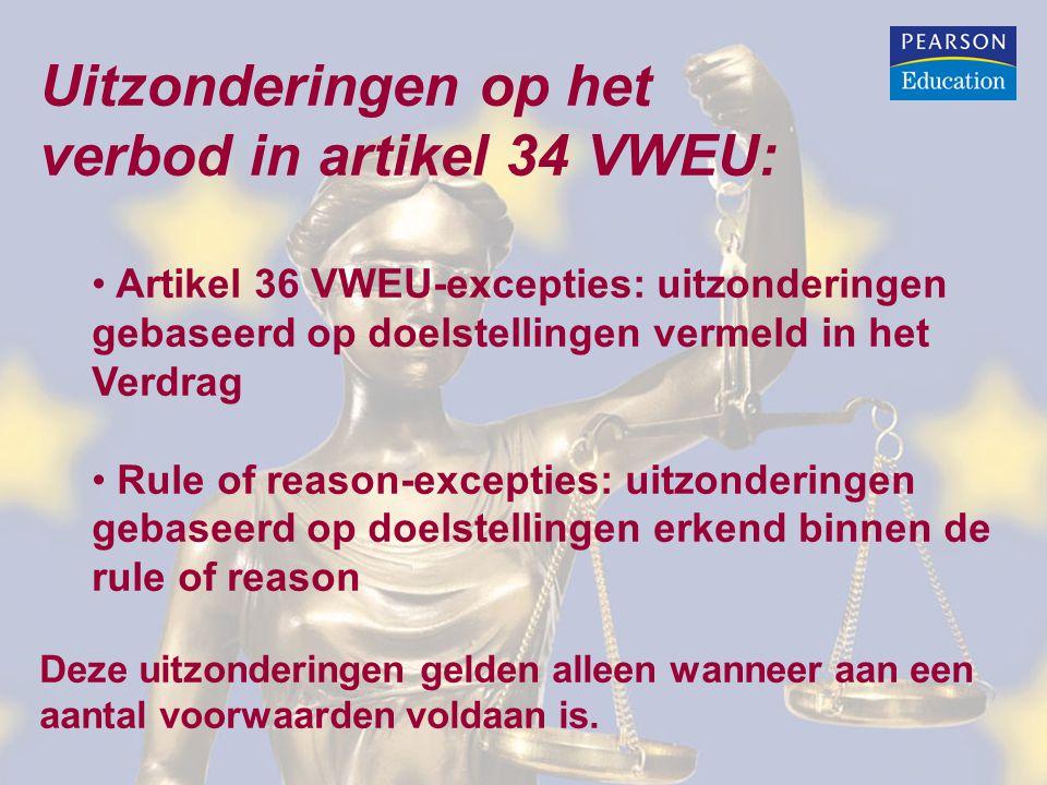 verbod in artikel 34 VWEU: