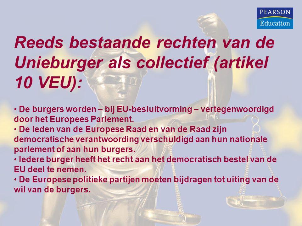 Reeds bestaande rechten van de Unieburger als collectief (artikel 10 VEU):