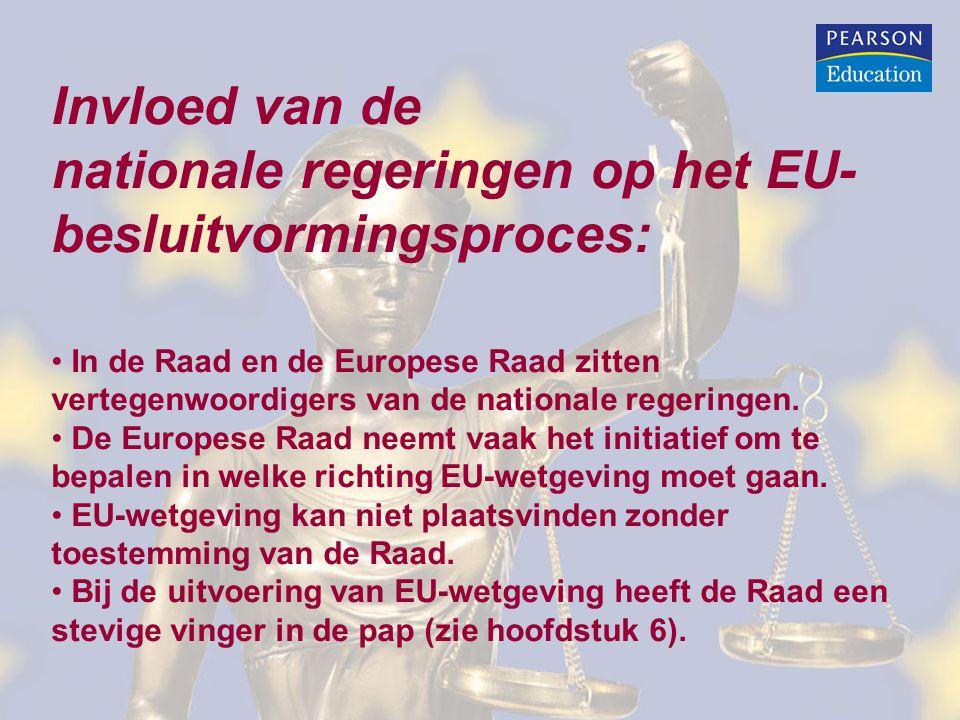 nationale regeringen op het EU-besluitvormingsproces: