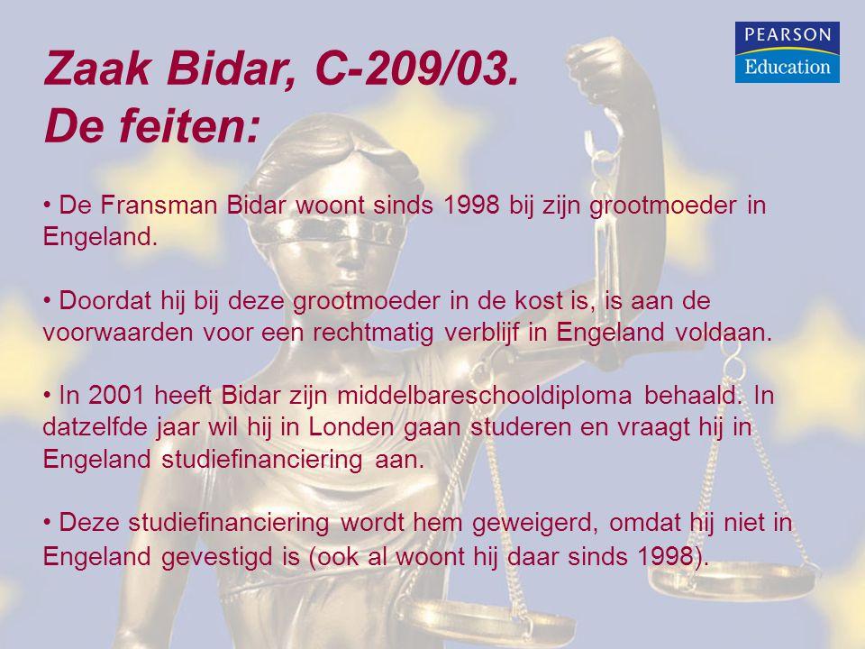 Zaak Bidar, C-209/03. De feiten: