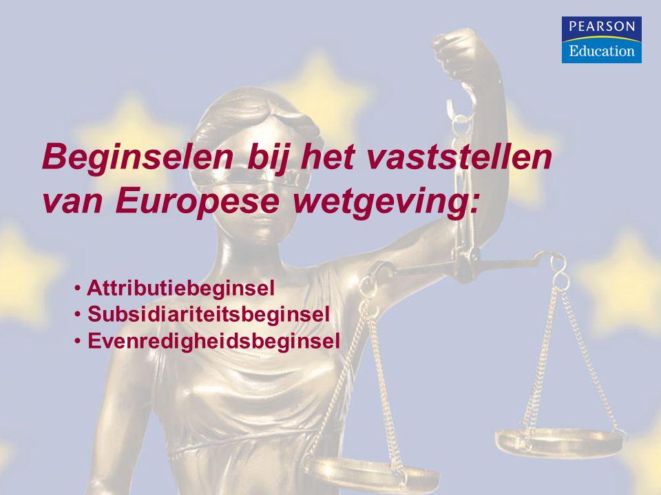 Beginselen bij het vaststellen van Europese wetgeving: