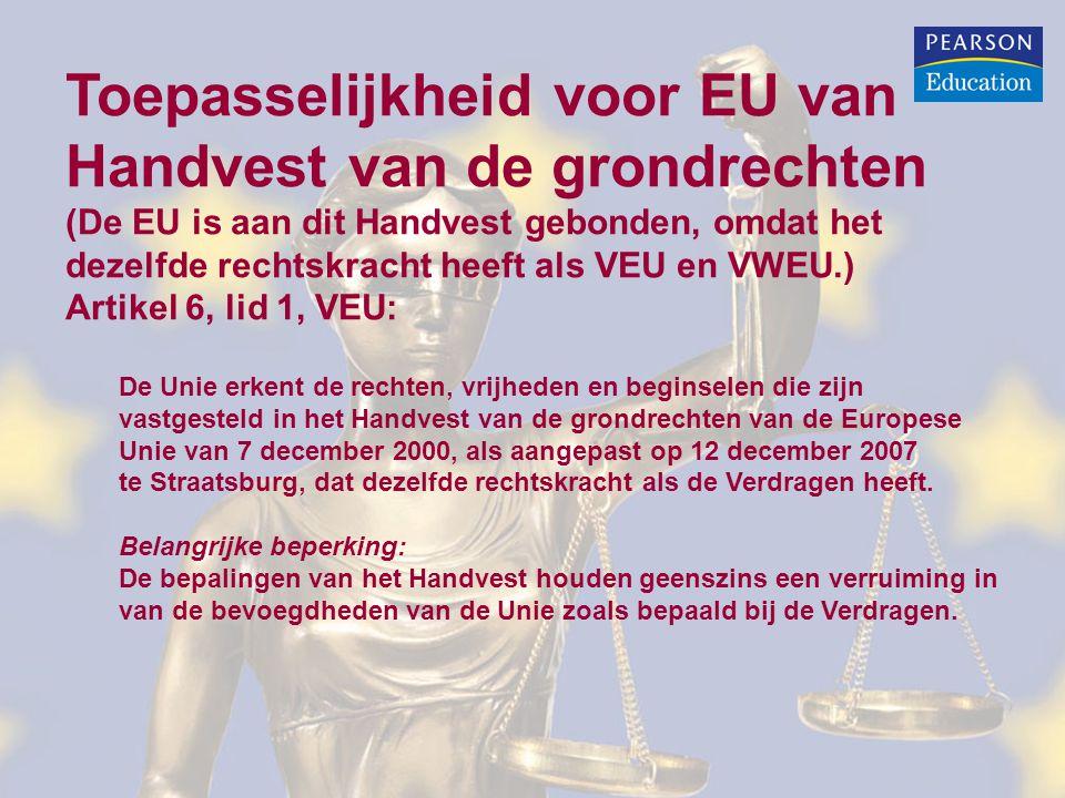 Toepasselijkheid voor EU van Handvest van de grondrechten