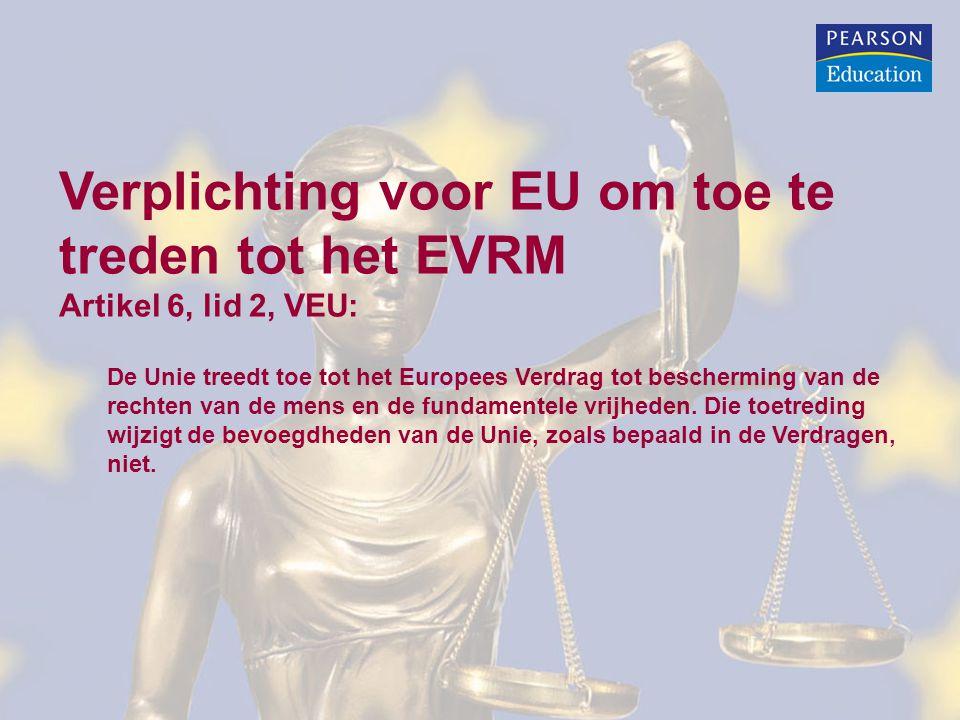 Verplichting voor EU om toe te treden tot het EVRM