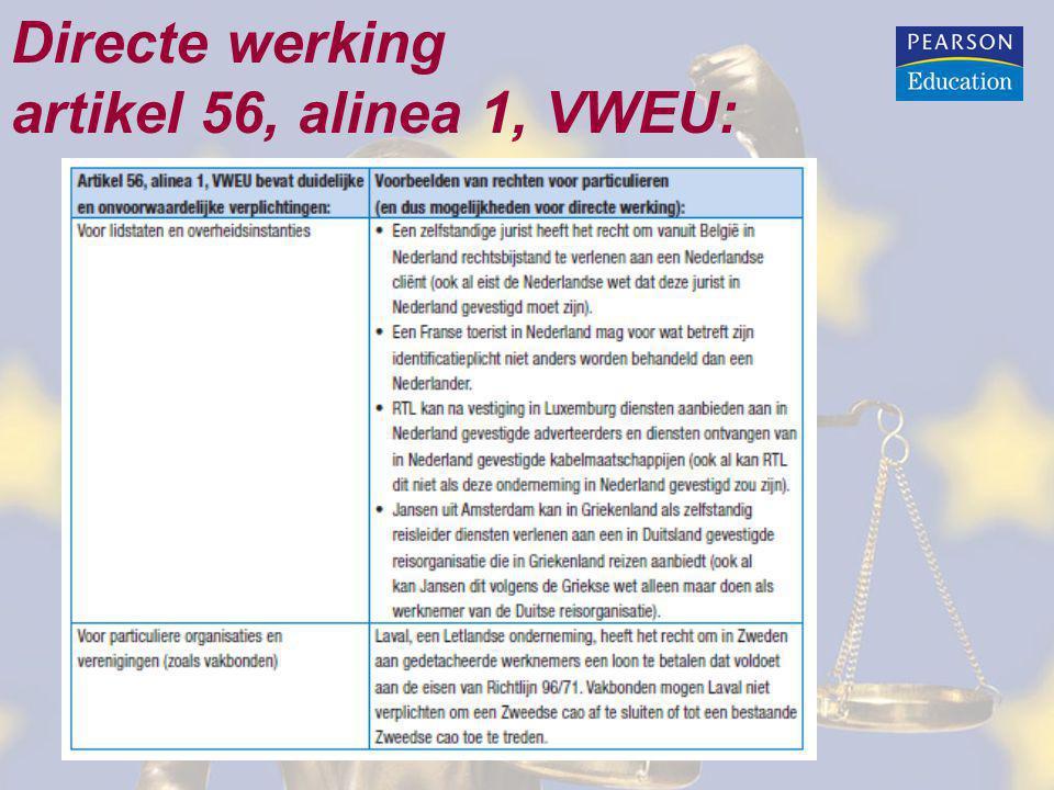 Directe werking artikel 56, alinea 1, VWEU: