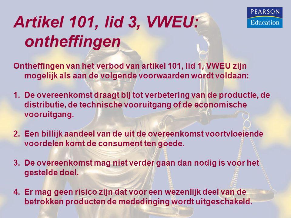Artikel 101, lid 3, VWEU: ontheffingen