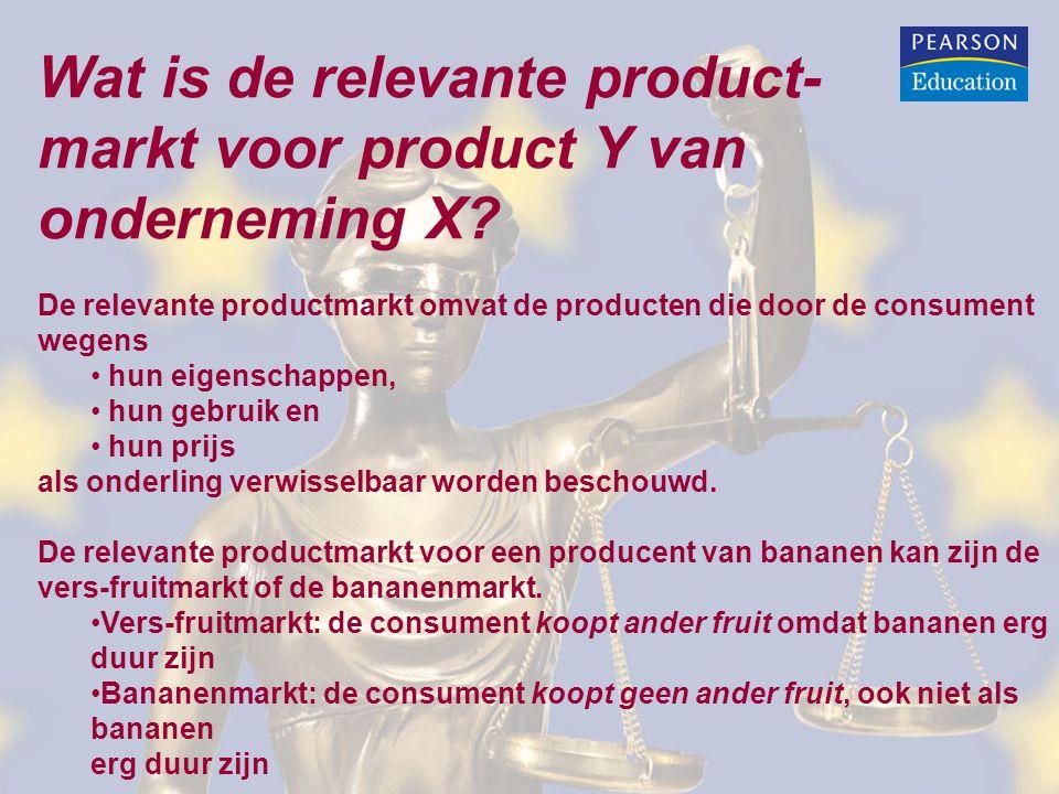 Wat is de relevante product- markt voor product Y van onderneming X