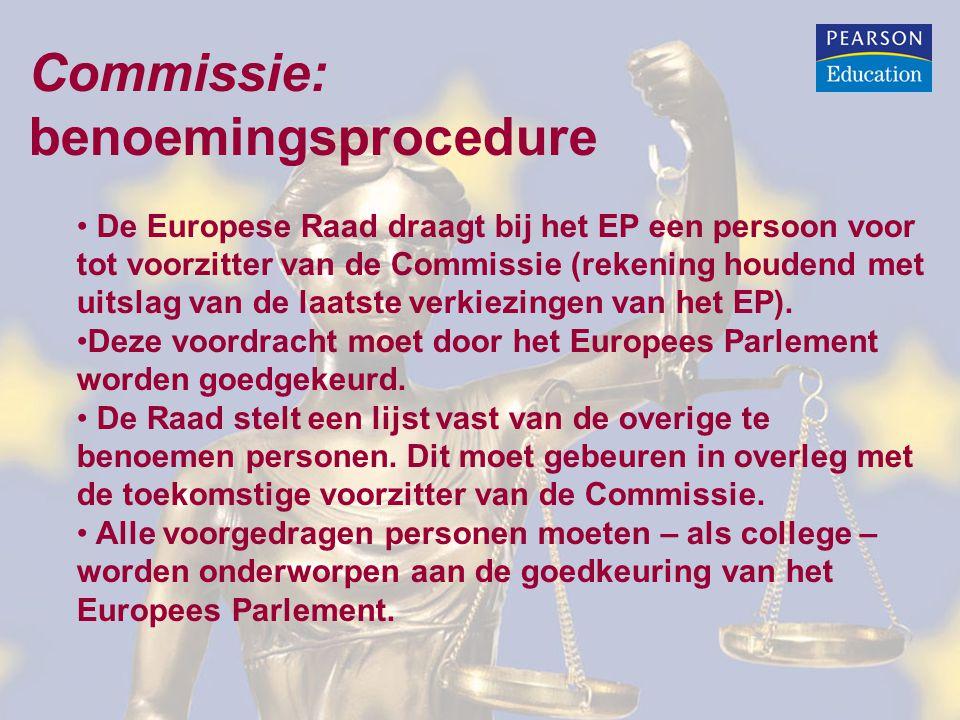 Commissie: benoemingsprocedure
