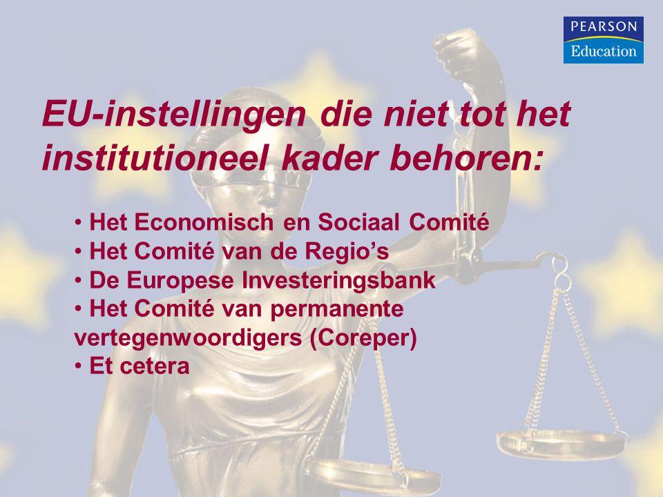 EU-instellingen die niet tot het institutioneel kader behoren: