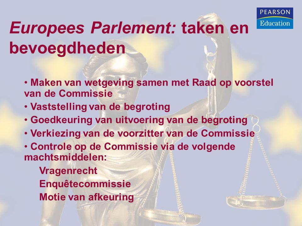 Europees Parlement: taken en bevoegdheden