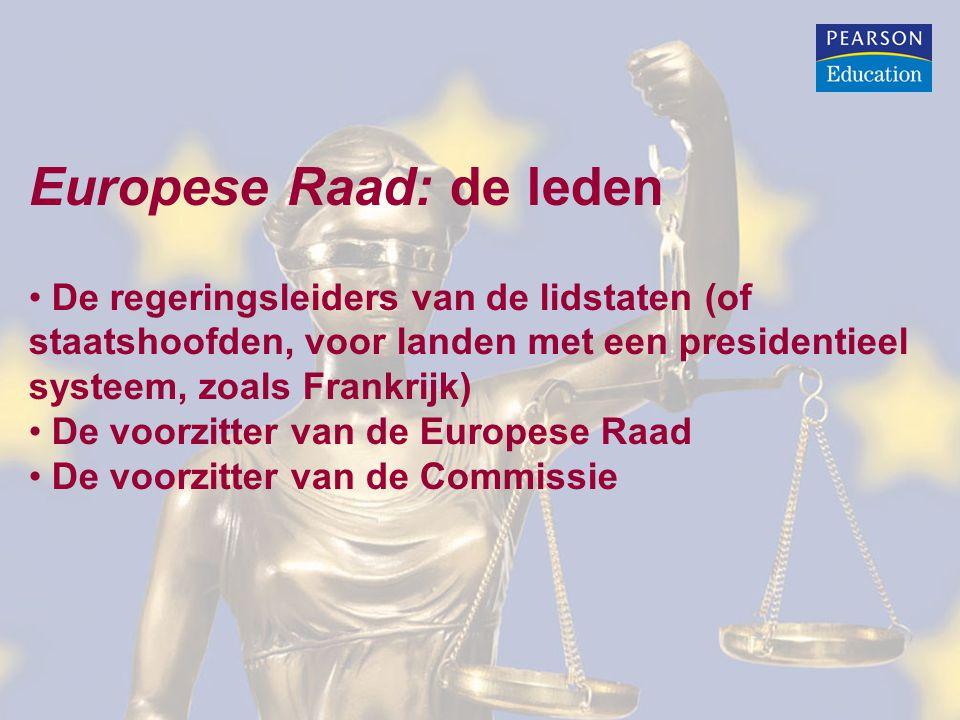 Europese Raad: de leden