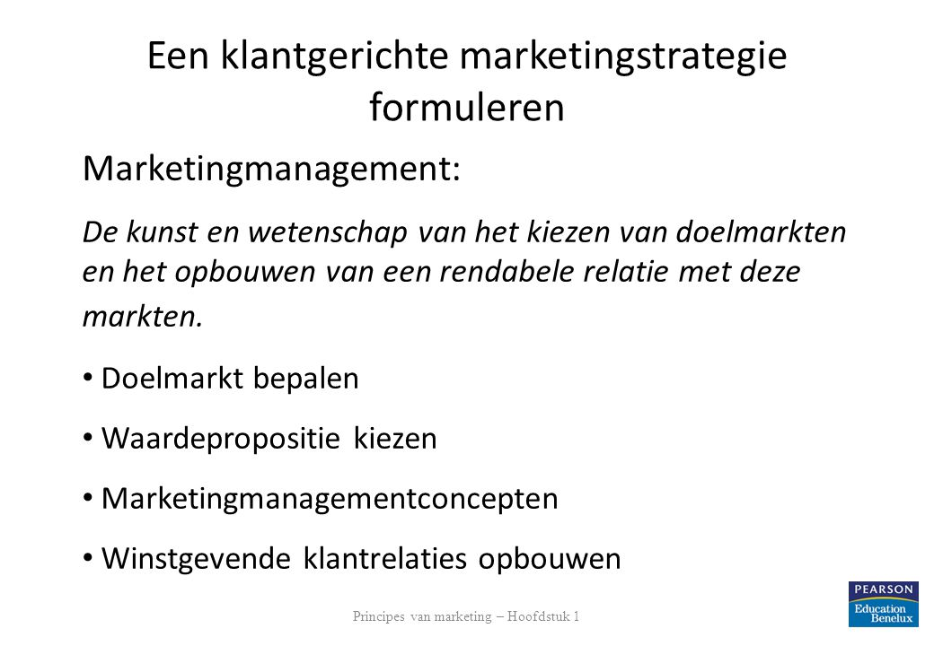 Een klantgerichte marketingstrategie formuleren