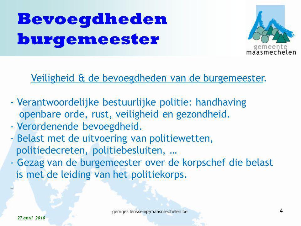 Bevoegdheden burgemeester