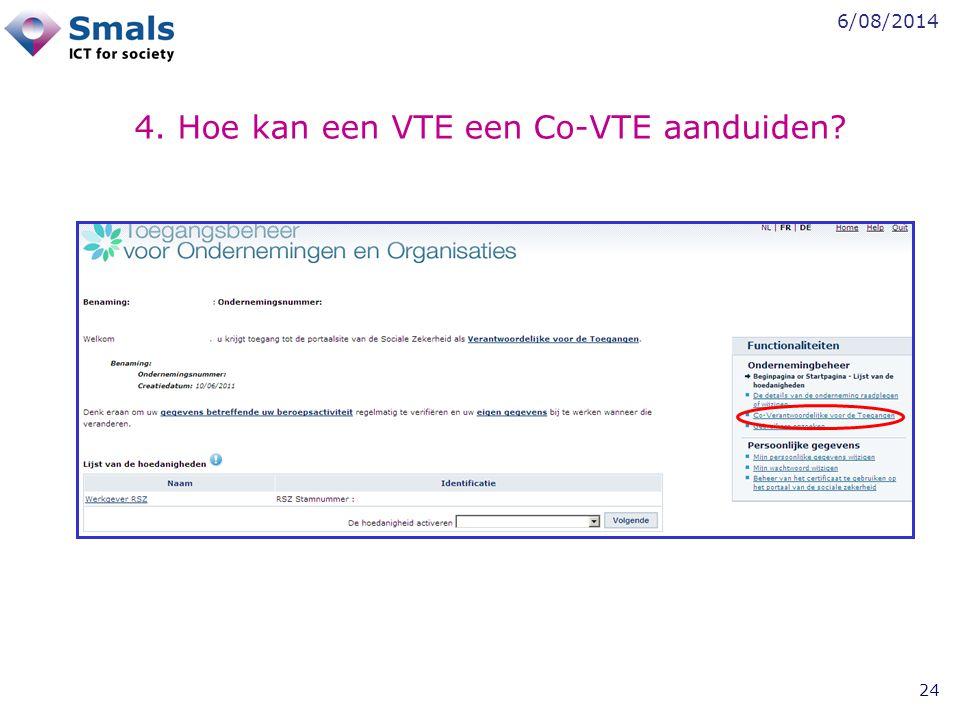 4. Hoe kan een VTE een Co-VTE aanduiden