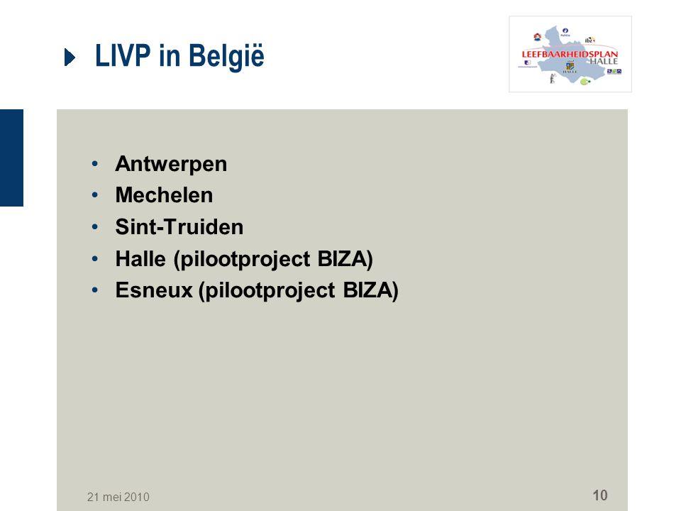 LIVP in België Antwerpen Mechelen Sint-Truiden