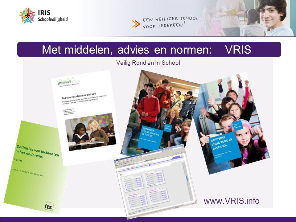 Met middelen, advies en normen: VRIS