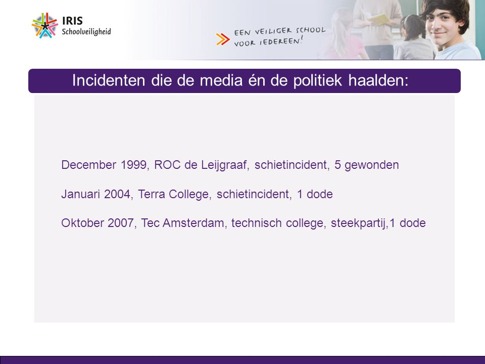 Incidenten die de media én de politiek haalden: