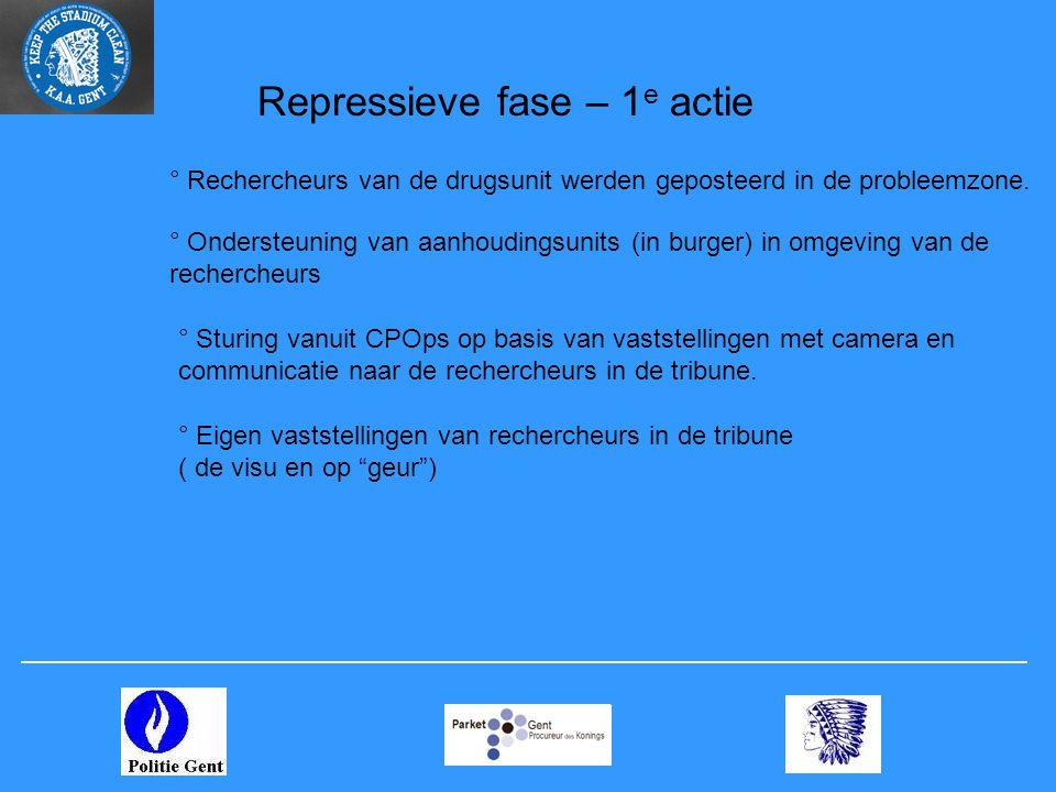 Repressieve fase – 1e actie