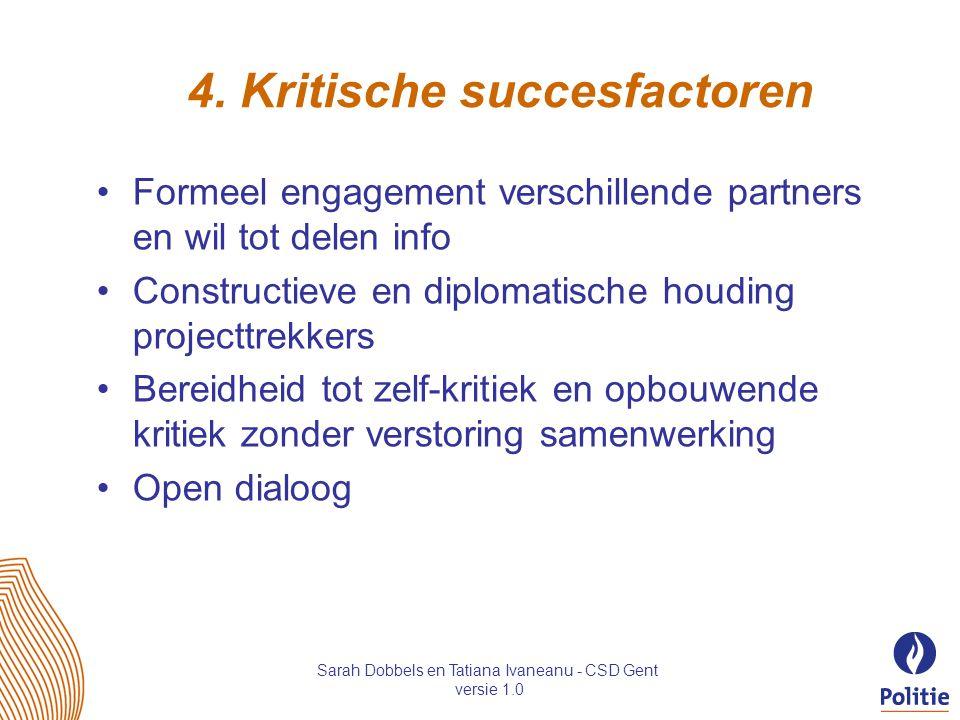 4. Kritische succesfactoren