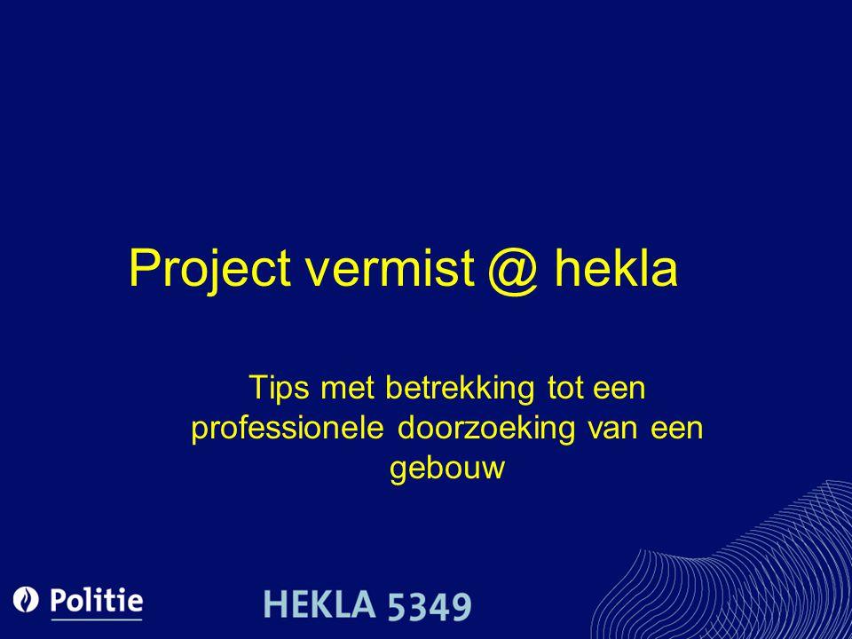 Project vermist @ hekla