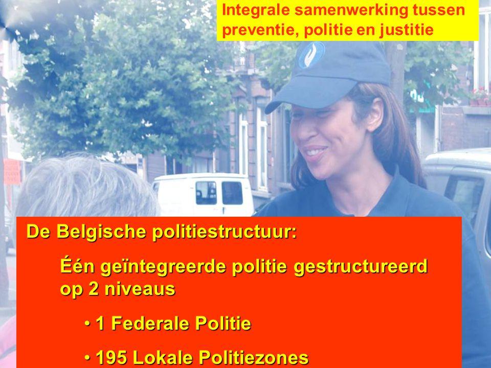 Één geïntegreerde politie gestructureerd op 2 niveaus