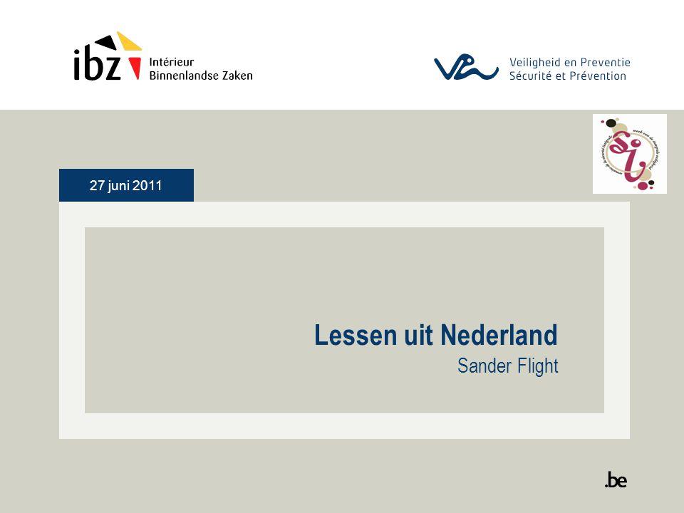 27 juni 2011 Lessen uit Nederland Sander Flight