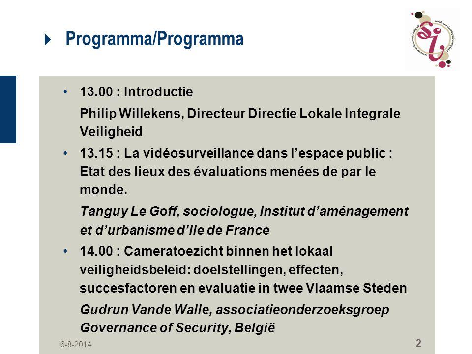 Programma/Programma 13.00 : Introductie