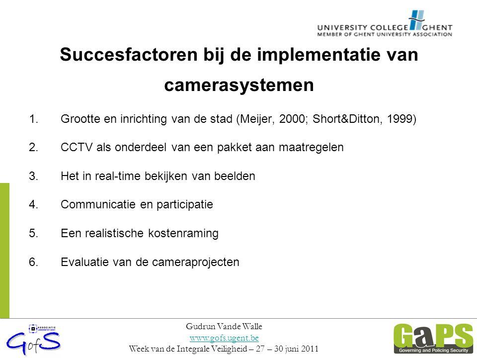 Succesfactoren bij de implementatie van camerasystemen