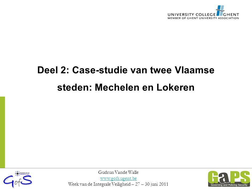Deel 2: Case-studie van twee Vlaamse steden: Mechelen en Lokeren