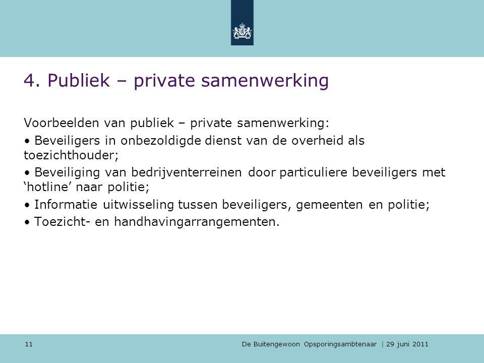4. Publiek – private samenwerking