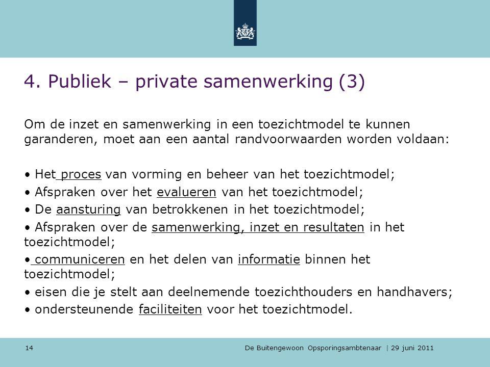 4. Publiek – private samenwerking (3)