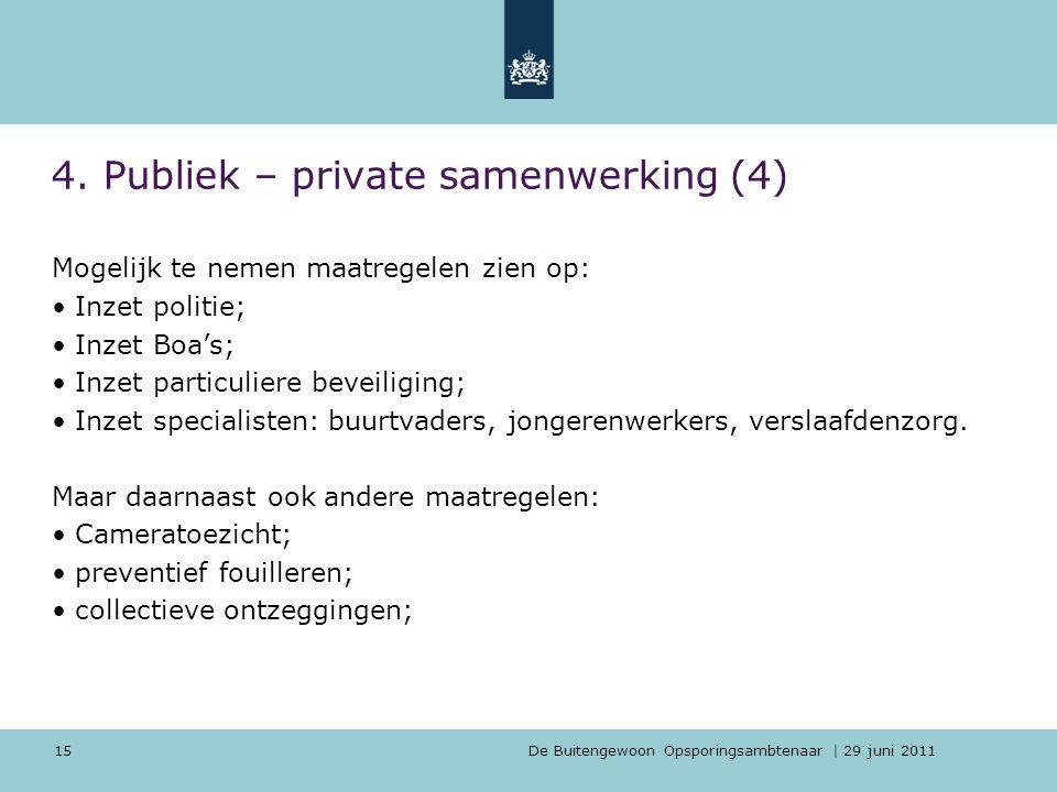4. Publiek – private samenwerking (4)