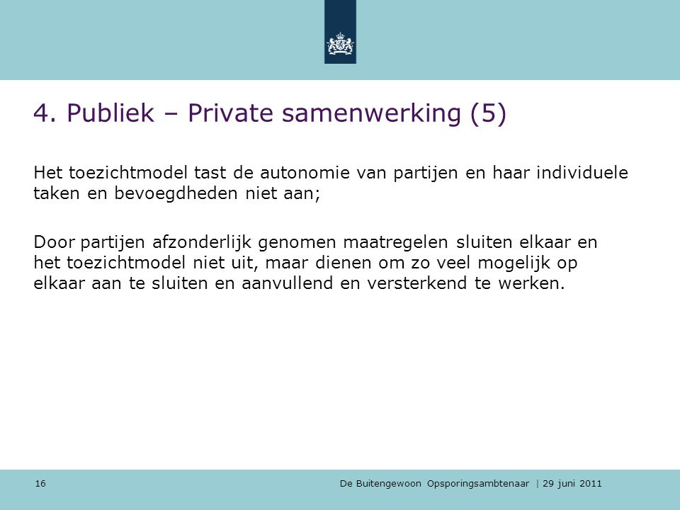 4. Publiek – Private samenwerking (5)