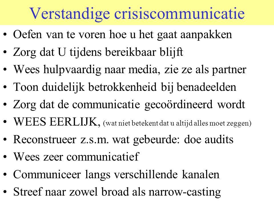 Verstandige crisiscommunicatie